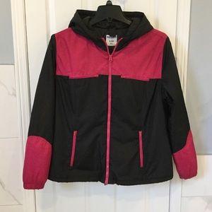 Black & Pink Light Weight Coat